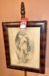 Early Victorian Artwork Display Stand