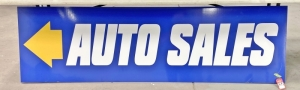 """Auto Sales"" Double-Sided Sign"