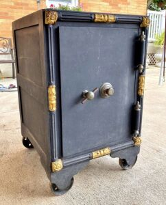 Early 1900's Hall's Safe & Lock Co. Floor Safe