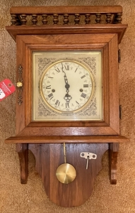 Walnut Wall-Mounted Pendulum Clock