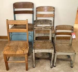 Vintage Children's School Chairs