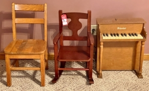 Children's Chair, Rocker, & Piano