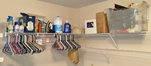Cleaning Supplies & Clothes Hangers