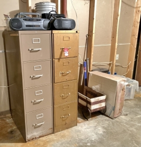 File Cabinets, Radios, & Furniture