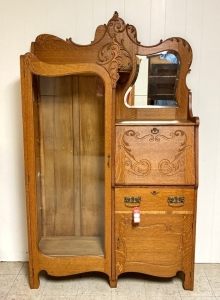 Antique Oak Secretary with Bookcase