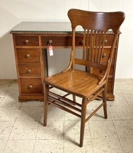 Vintage Mahogany Desk & Oak Chair