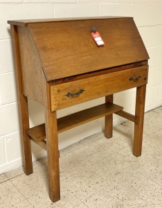 Oak Drop Front Writing Desk