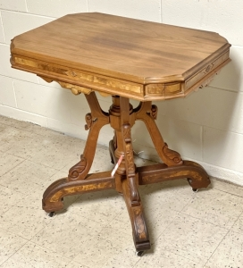Walnut Victorian Occasional Table