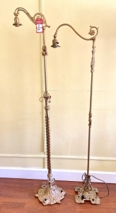 Early Elaborate Cast Iron Floor Lamps