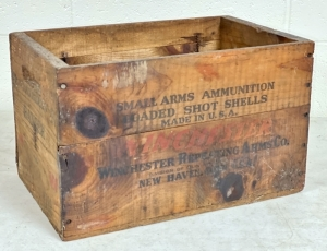 Vintage Winchester Wooden Ammo Box