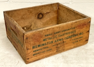 Vintage Remington Wooden Ammo Box