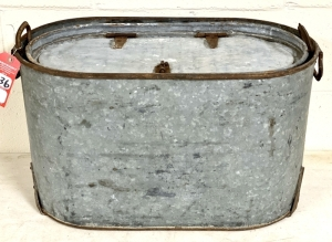 Early Galvanized Minnow Bucket