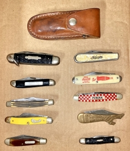 Vintage Advertising Pocket Knives