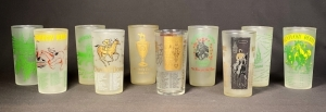 1950-1959 Set of Kentucky Derby Julep Glasses - Updated