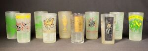 1951-1959 Set of Kentucky Derby Julep Glasses - Updated