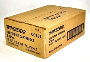 Winchester 5.56mm 55 Gr. Full Metal Jacket Ammo