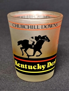 "1987 Kentucky Derby 1.5 oz. ""Shot"" Frosted Glass"