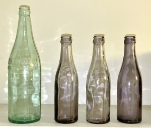 Vintage French Lick Springs Pluto Water Bottles