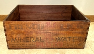 Vintage French Lick Springs Pluto Water Advertising Box