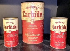 Early National Carbide Metal Cans