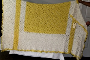 Crocheted Queen-sized Bedcover
