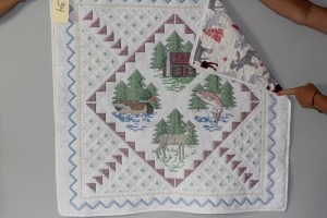 Cross Stitched Baby Quilt