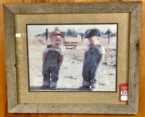 """You Been Farming Long"" Framed Print"