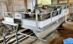 Lowe Pontoon Boat with Trailer