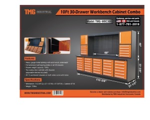 Heavy Duty 30-Drawer Work Bench Cabinet Combo-New