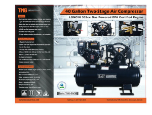 40-Gallon 2-Stage Air Compressor-New