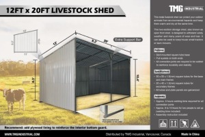 Skid Mounted Livestock Shed-New