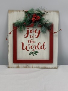 Joy to the World Wooden Plaque