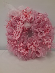 Pink Breast Cancer Wreath