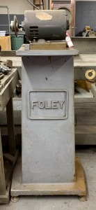 Grinder on Foley Tool Stand