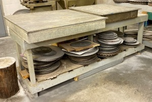 Saw Cleaning Tanks, Work Table & Saw Blades