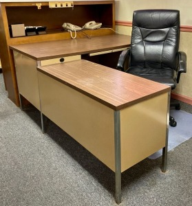 Anderson Hickey Co. L-Shaped Office Desk with Chair