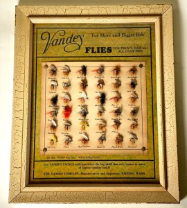Bande's Fly No. 481 Divided Wing Flies Sales Display Board