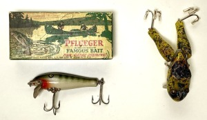 Paw Paw Whatta Frog and Pflueger Palomine Lures