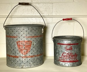 Falls City Large Minnow Bucket and Frabill's Bucket