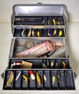 J.C. Higgins Tackle Box with Lures