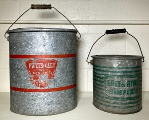 Falls City and Green River Minnow Buckets