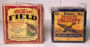 "Peters ""High Velocity"" 28 Ga. and Western ""Field"" 20 Ga. Shell Boxes"