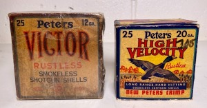 "Peters ""High Velocity"" 20 Ga. and Peters ""Victor"" 12 Ga. Shell Boxes"