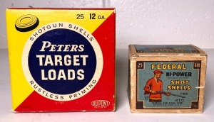 Federal High-Power .410 and Peters Target Load 12 Ga. Shell Boxes