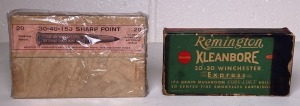 Peters 30-40 and Remington 30-30 Ammo Boxes