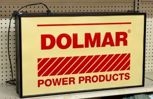 Dolmar Power Products Double Sided Lighted Store Display Sign