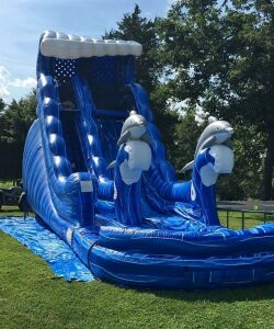 Bouncing Angels Inc. Dolphin Splash Inflatable Water Slide