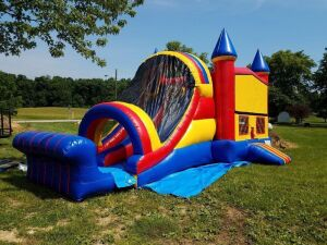 Bouncing Angels Inc. Variety Color Inflatable Combo Castle & Water Slide