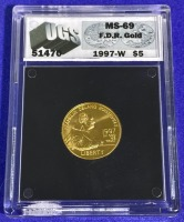 1997-W $5 FDR Gold MS-69 UGS