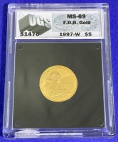 1997-W $5 FDR Gold MS-69 UGS - 2